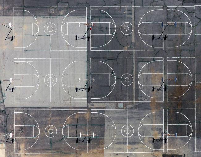 Aerial Shot Drone  Lines Perspectives On Nature Phantom 4 Basketball - Sport Basketball Hoop Dji No People Outdoors Sport EyeEmNewHere