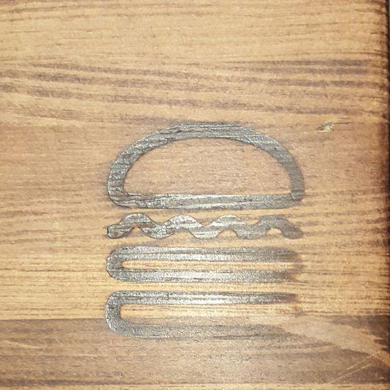 Hamburger Burn Wood Branded Tabletop Chicago Downtown Chicago Ohio Street Food Dinner Dinner Time Dinnertime Supper Shake Shack