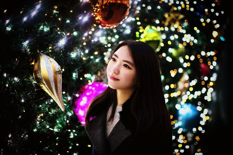 Hanging Out Taking Photos Christmas Decorations Christmas Lights Cannon Decorations Everland Festival Girl