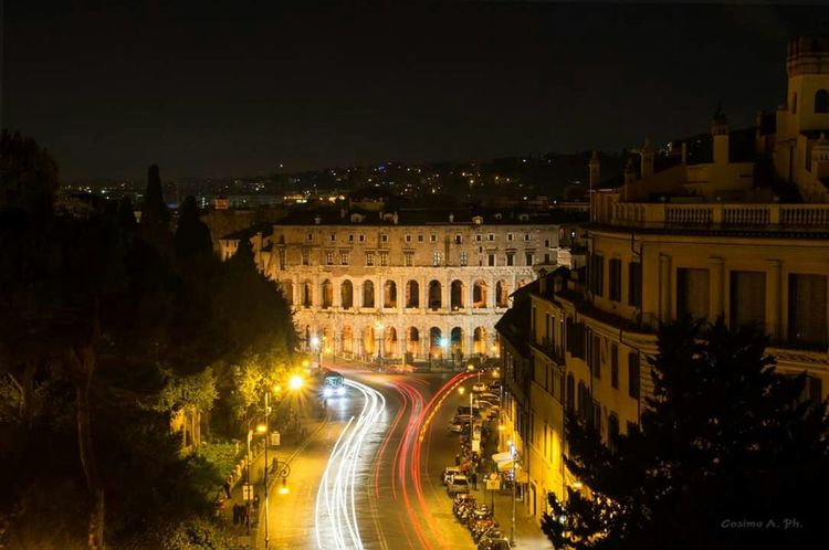 Roma by Night Roma Rome Rome Italy Nihgt Night Lights Notte Roman Ruins Lanscape Landscape_Collection Street Photography