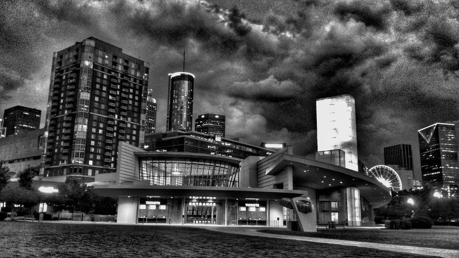 Clouds And Sky Blackandwhite Urban Landscape Welcome To Black