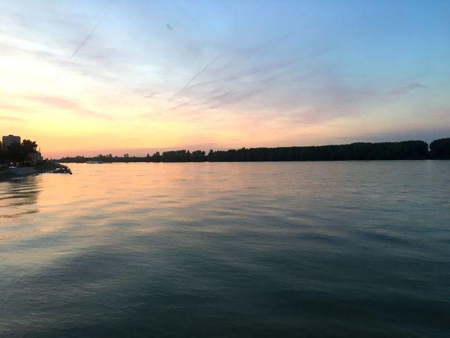 Vukovar Kroatien Kroatia Donau River Sunset Beauty In Nature