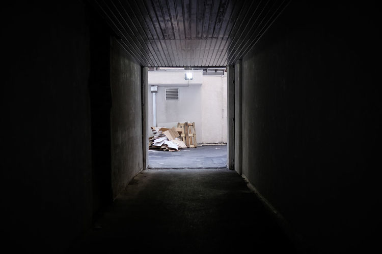 Entrance of the warehouse Architecture Built Structure Day Hallway Indoors  Industry No People The Street Photographer - 2017 EyeEm Awards Warehouse