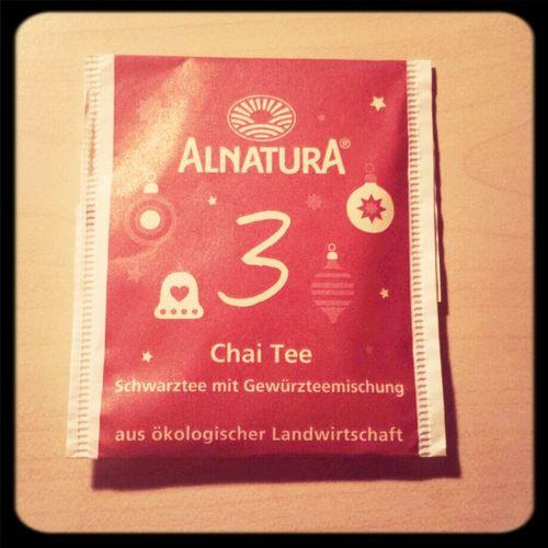 Teebeutel des dritten Dezember:Chai und lecker! ^^ Tea ALNATURA