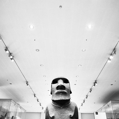 Pivotal Ideas Sculpture Museum British Museum London Lines And Shapes Interior History Black And White Moai Exhibition Lights TakeoverContrast