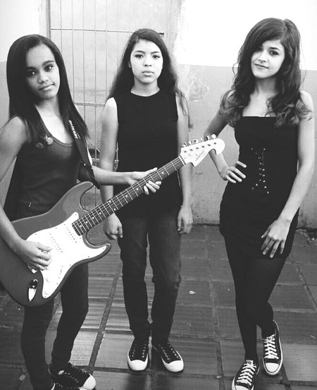 That's Me and My Bestfriends ❤ Black And White Rock N Roll