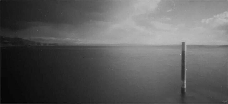 ONDU pinhole camera! 0,22 mm / f:125 ! Pinhole Photography Pinhole Camera Pinhole Shots Pinholephotography Pinhole Lake View Black And White Black & White Black And White Photography Panorama
