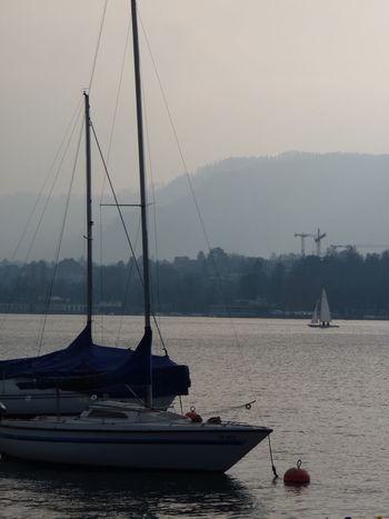 Boat Boats⛵️ Lake Sailboat Zürisee Zürich Switzerland Tranquility Outdoors EyeEmNewHere