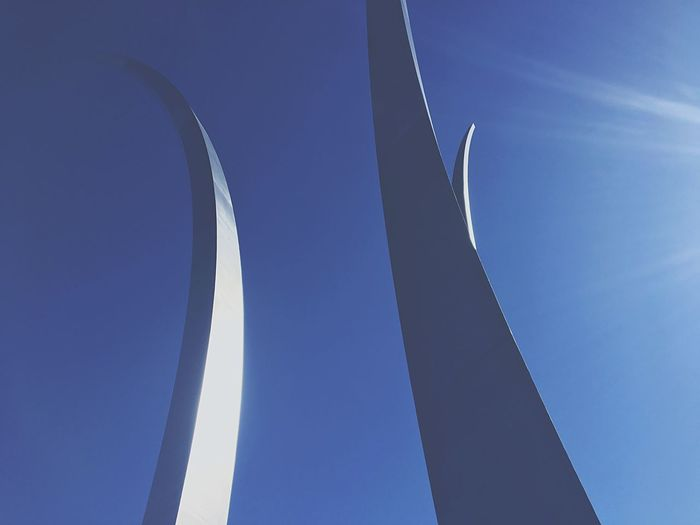 spire Blue Low Angle View Clear Sky Day Built Structure Sky Washington, D. C. Air Force Memorial
