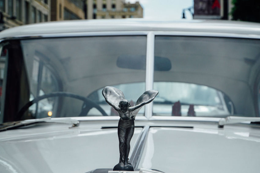 Angel Car Classic Classic Car Clos Lucé Elegant Flying Front View Roll Royce Windshield