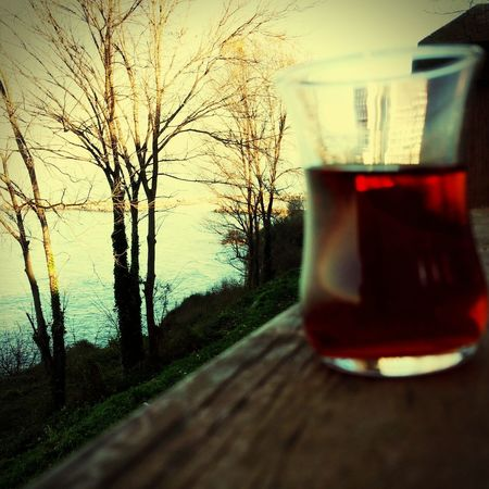 Huzur Keyif :) çay Olmazsaolmaz Vazgeçemedim Water Tree Drink Reflection Food And Drink Refreshment No People Branch Day Close-up Drinking Water Nature Outdoors
