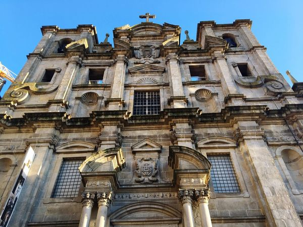 Churches of Porto Porto Portugal 🇵🇹 Old Church Low Angle View Architecture Religion Built Structure History Spirituality Place Of Worship Building Exterior Travel Destinations Outdoors Architectural Column Ancient Civilization Day EyeEmNewHere