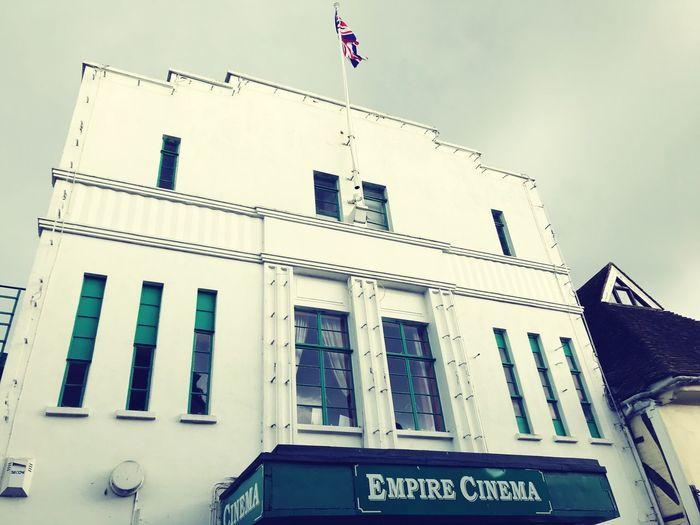 Empire Cinema Sky Window No People Flag Sign