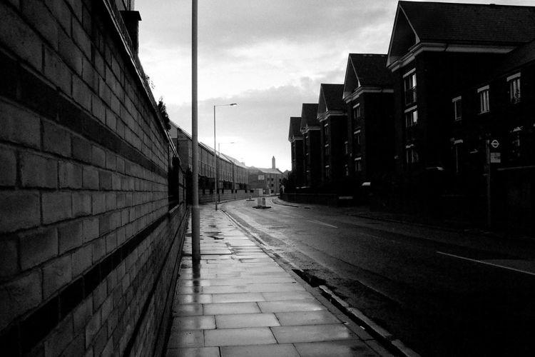 2001 Atmospheric Mood Black & White Houses Street Street Rainy Day Streetphotography Urban Periphery