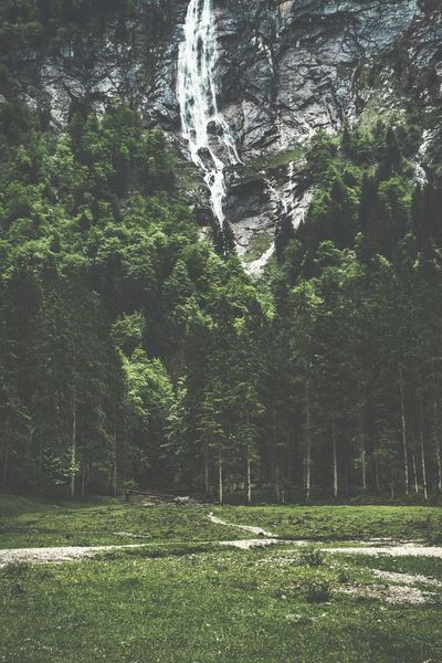 Waterfall Tree Outdoors Nature Water Waterfall Germany Berchtesgaden Alps Alpen Bavarian Alps Bavaria Bayern Königssee Www.alexander-schitschka.de Mountains Berge Travel