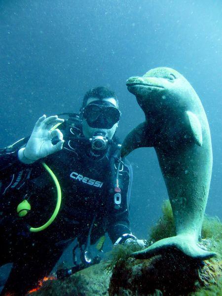 Sommergefühle Scuba Diving Underwater UnderSea Water Scuba Diver Dolphin Costa Brava Lescala Cressi Blue Sommergefühle