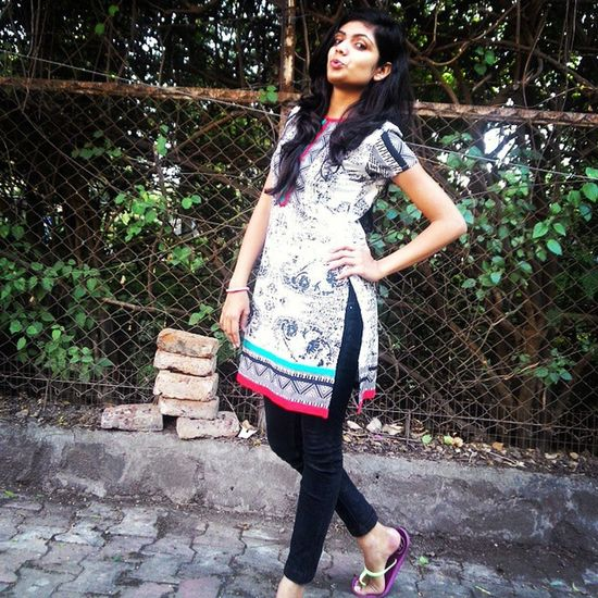 DressOfTheDay Indian Afterexam Exhausted yetPosing prettyHairDay