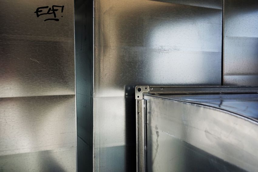 Building Site Number Eleven Graffiti Tag No People Wall - Building Feature Metal Glass - Material Architecture Technology Close-up Day Reflection Full Frame Silver Colored