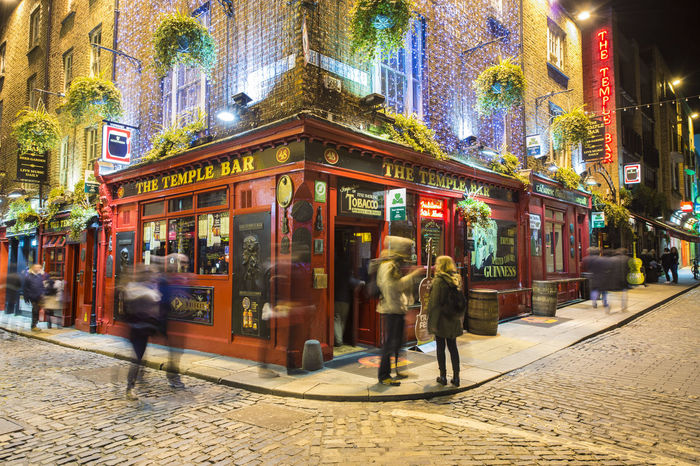 The Temple Bar, Dublin, Ireland Architecture Beer City Dublin, Ireland Guinness Illuminated Ireland Night People Pub Red Sightseeing Street Temple Bar Temple Bar District The Temple Bar Travel Destinations Travel Photography