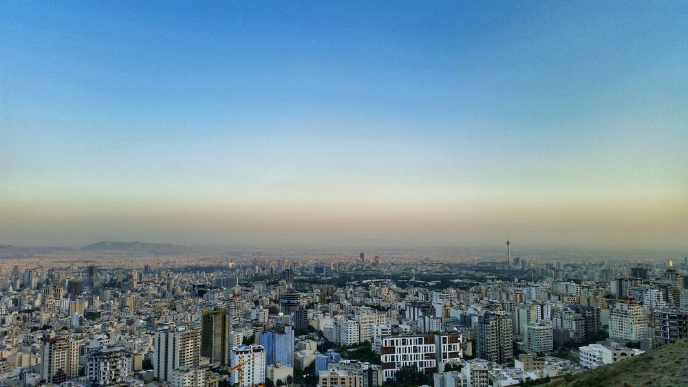 Tehran Velenjak Cityscape No People Clear Sky Sunset Building Exterior City Sky Tehran Iran تهران ایران ولنجک Photography عکاسی_موبایل عکاسی Architecture Aerial View Skyscraper Urban Skyline Outdoors Horizon Modern Day