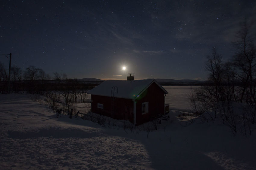 Frozen cabin at a frozen, moonlit lake Architecture Arctic Beauty In Nature Cabin Cold Cottage Fjord Frozen House Idyllic Illuminated Majestic Moon Moonlight Moonlit No People Non-urban Scene Norway Polar Night Remote Scenics Snow Tranquil Scene Tranquility Winter