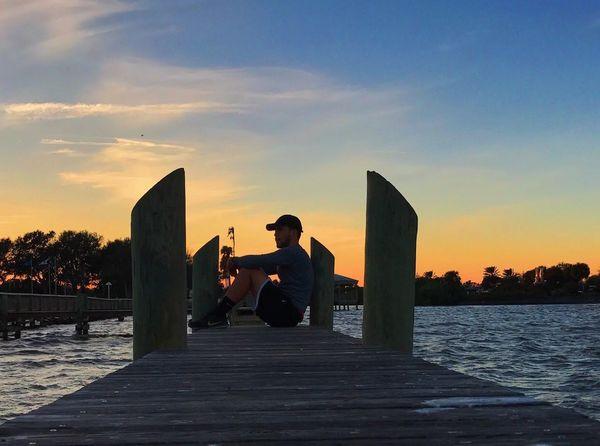 Sky Sunset Sea Water Cloud - Sky Leisure Activity Real People