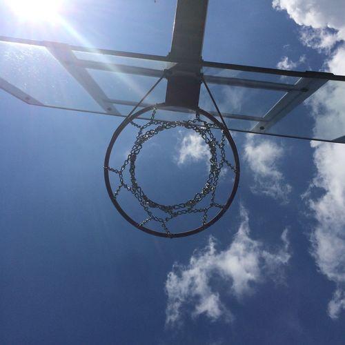 Perfect Basketball Circle Perfect Circle Timing Blue Sky