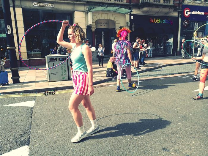 Pride Cymru #proudtobeme Shadow Loveislove Hoola Hoop Parade Marching Costume Cardiff Wales❤ Wales UK Summertime Full Length Playing Dressing Up Carnival Carnival - Celebration Event