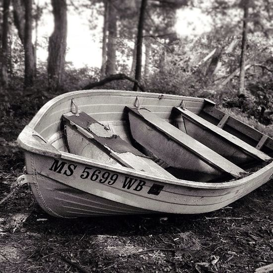 Boats Black And White IPhoneography Woods