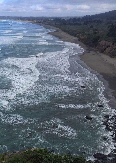 Coast of CA-- Rocky Coastline The Essence Of Summer 2016 Iphonephotography #A Bird's Eye View