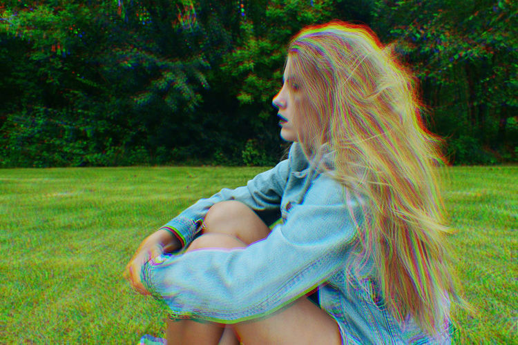 Blonde Levis Blue Lips Jean Jacket Levis Jeans Summer Summer Photography Trippy