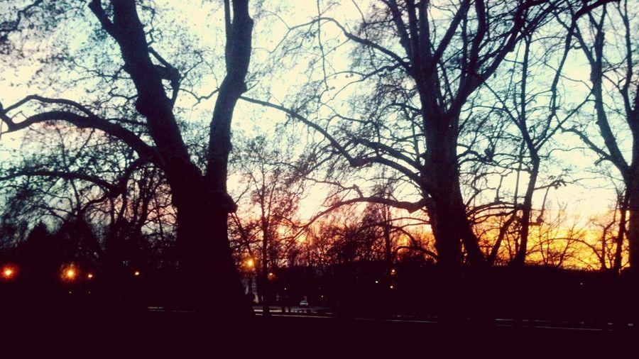 setting sun in Budapest