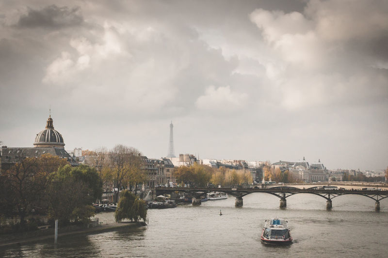 View of Seine River. Paris France Europe.Toned Image. France Paris Seine River Seine River Banks Architecture Building Exterior Built Structure City Day Outdoors River Seine Et Marne Water Waterfront