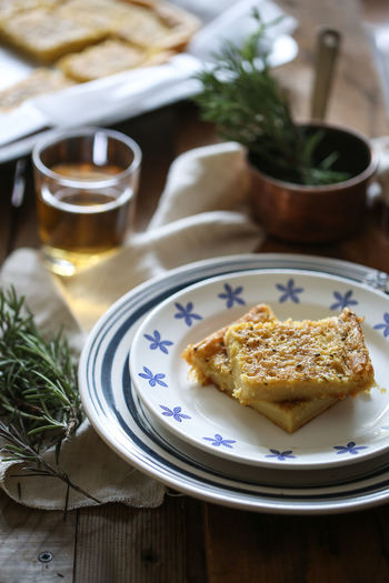Italian chickpea farinata Chickpea Chickpea Flour Farinata Chickpea Farinata Italian Food Healthy Food And Drink Food Table Freshness Plate Ready-to-eat Indoors  No People Still Life Drink Healthy Eating Close-up Focus On Foreground Selective Focus Glass Rosemary Herb