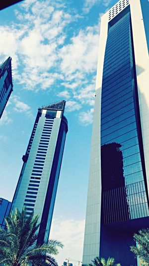 Qatar 🇶🇦 Low Angle View Building Exterior Skyscraper Architecture City Sky Built Structure Outdoors Modern No People Day Cloud - Sky Office Block