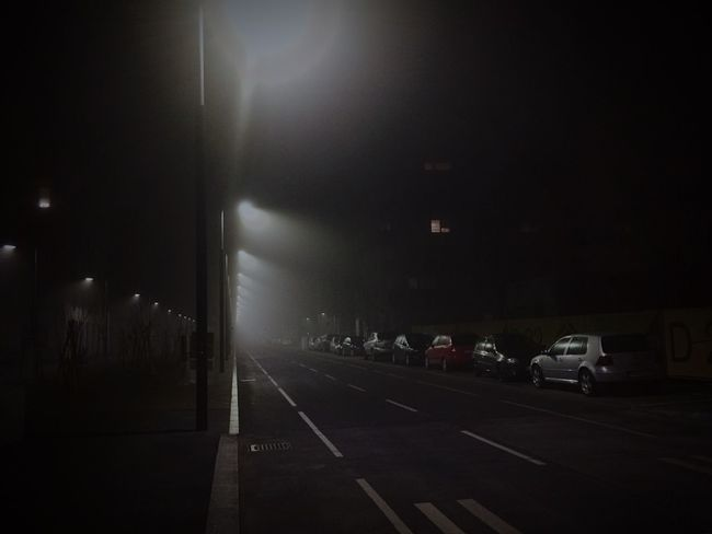 It was foggy tonight Fog Night Night Lights Foggy Night Streetphotography Nightphotography