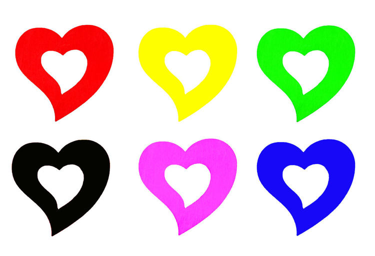 Heart shape on paper