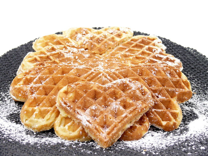 Brown Close-up Composition Directly Above Food Food And Drink Healthy Lifestyle Indoors  Indulgence Meal No People Plate Preparation  Prepared In A Waffle Iron Ready-to-eat Still Life Temptation Waffle Time Waffles