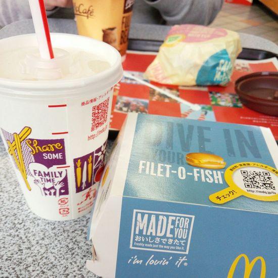そしてマック🍔 でぶ でも うまい 。2日連続 McDonald's 。これも 東京 🙌🙌