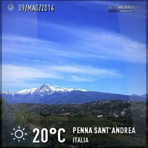 Good morning! Goodmorning 100happydays Day21 Abruzzo igersAbruzzo igersitalia instamood sky bluesky panorama silhouette Italy photooftheday picoftheday jj
