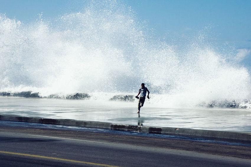 Cuba EyeEmNewHere Havana Malecon One Person Sea Seaside Water Waves