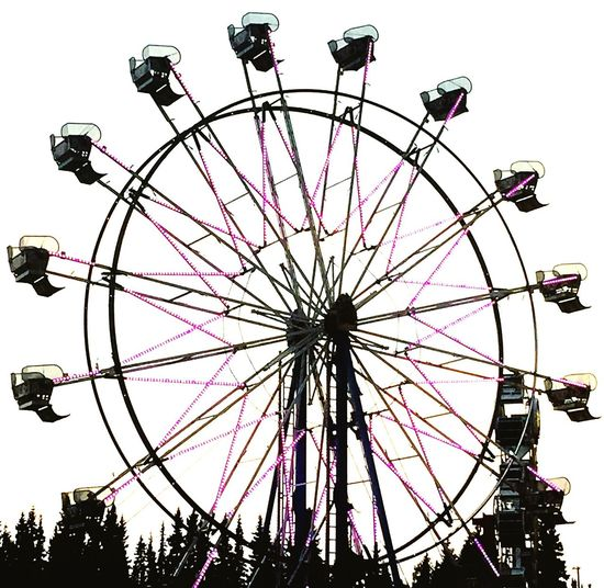 Ferris Wheel Carnival Fair Fairbanks Alaska Lights Night Photography