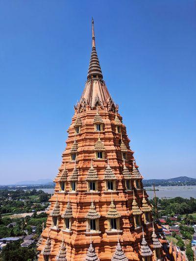 เจดีย์วัดถ้ำเสือ Ancient Civilization Clear Sky Place Of Worship Statue Spirituality Religion Business Finance And Industry Sculpture History Pagoda