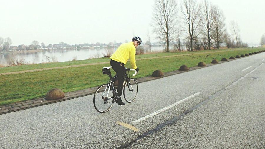 Cycling Hamburg Deich  Roadbike