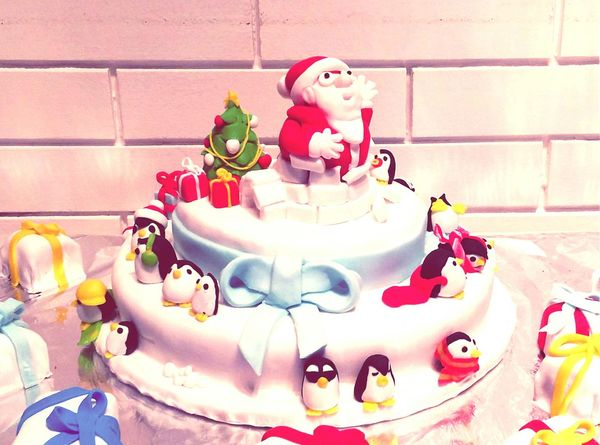 Christmas Cake Merry Christmas Santaclaus Homemade Père Noël Sugar Paste