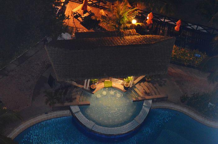 Night Celebration Pool Poolbar Jakuzzi Jakuzi