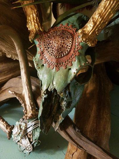 Embellished Buck Skull Art Deer Skull Rustic Interior Rustic Beauty Rusticstyle Rustic Charm Deep Southern Charm