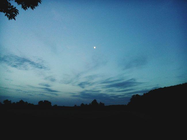 Sky Darkness Moon