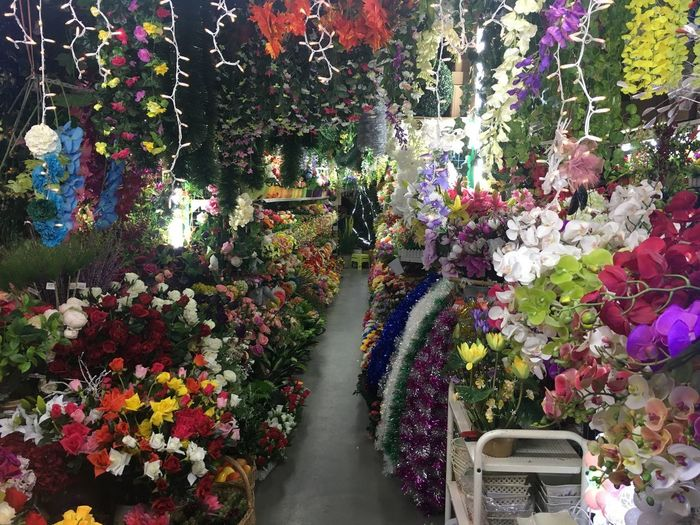 Flower Retail  Multi Colored Variation Choice For Sale Flower Shop Large Group Of Objects Flower Market