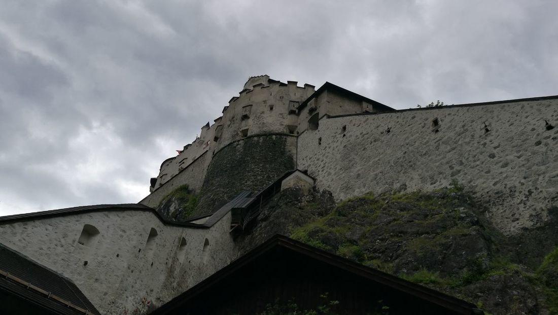 Nature Mountains Alpes Hohenwerfen castle Werfen cloudy dark